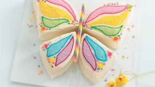 مدل كيك تولد دخترانه - عكس كيك تولد دخترانه - كيك تولد پروانه اي