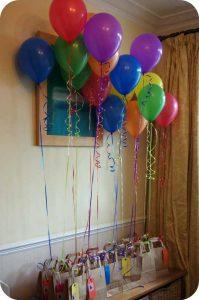 تزیین جشن تولد با بادکنک-بادکنکهای روی کیسه