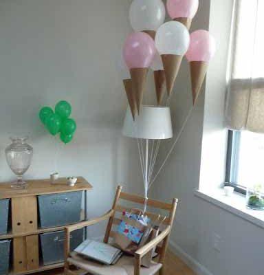 تزیین جشن تولد با بادکنک-بستنی قیفی بادکنکی