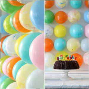 تزیین جشن تولد با بادکنک-دیوار بادکنکی