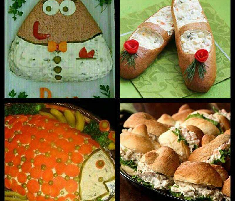 خوراکی های جشن تولد-تزیین سالاد الویه