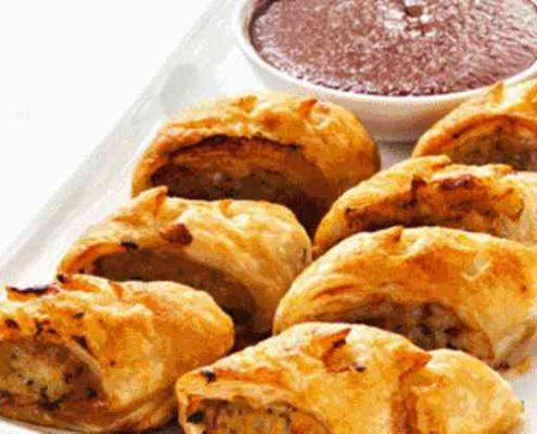 غذاها و خوراکی های جشن تولد کودکان - رول جوجه و سبزیجات - خوراکی خوشمزه برای جشن تولد - غذای سبک جشن تولد