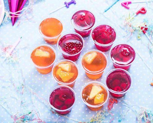 لیست غذای تولد - دسر جشن تولد - ژله میوه ای