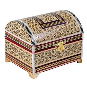 هدیه تولد برای خانم ها-جعبه جواهرات خاتم کاری