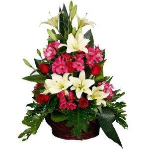 هدیه تولد برای خانم ها - هدیه تولد زنانه - کادو تولد - دسته گل - سبد گل