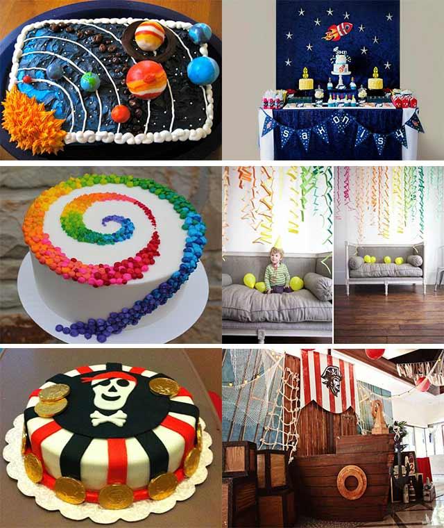 كيك تولد و تم تولد - ارتباط تم جشن تولد با كيك - كيك تولد رنگارنگ،دزدان دريايي، فضايي