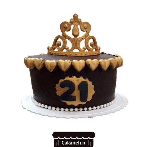 کیک تولد اصفهان - سفارش کیک تولد - خرید اینترنتی کیک تولد - کیک تولد تاجدار - کیک تولد تاجی