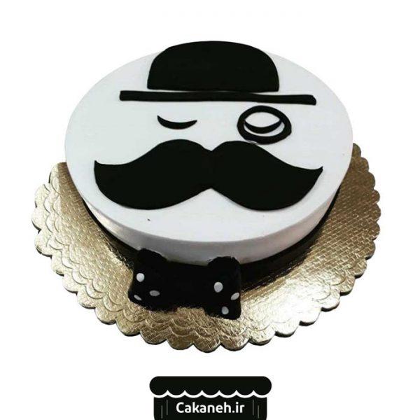 کیک تولد اصفهان - سفارش کیک تولد سیبیل - کیک تولد مرد سیبیلو - خرید اینترنتی کیک اصفهان