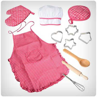 کادو تولد برای دختر-لباس آشپزی-هدیه تولد مناسب برای دختربچه ها