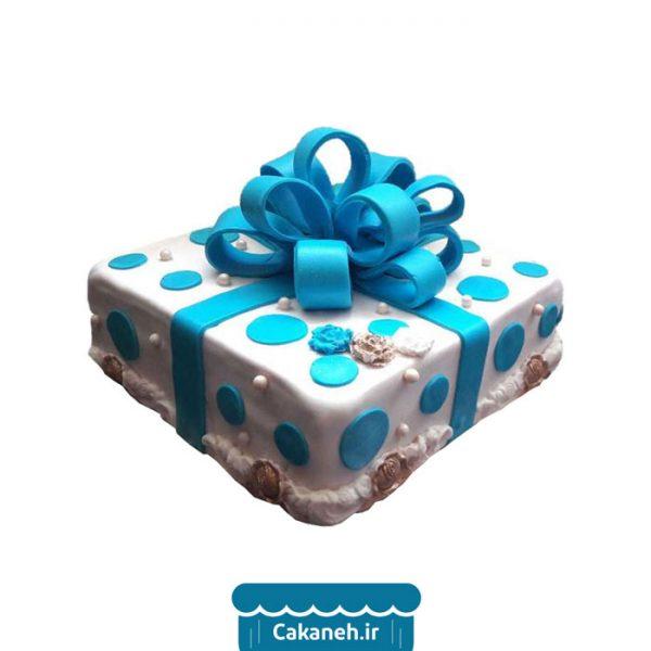 کیک جعبه کادو - کیک خانگی - سفارش کیک تولد - خرید اینترنتی کیک تولد - کیک تولد اصفهان