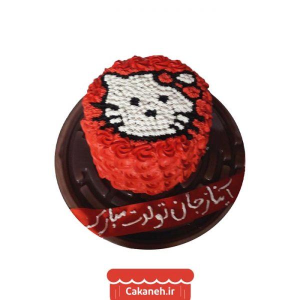 کیک کیتی- کیک خانگی - سفارش کیک تولد - خرید اینترنتی کیک تولد - کیک تولد اصفهان