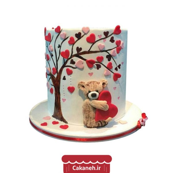 کیک درخت عشق - کیک عاشقانه - کیک رمانتیک - سفارش کیک تولد - خرید اینترنتی کیک تولد - کیک تولد اصفهان - کیک خانگی