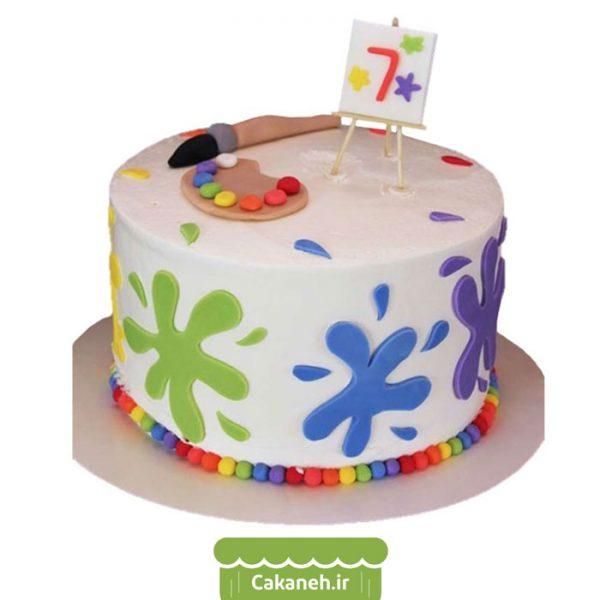 کیک تولد هنری - کیک تولد دخترانه - سفارش کیک تولد - کیک تولد در اصفهان