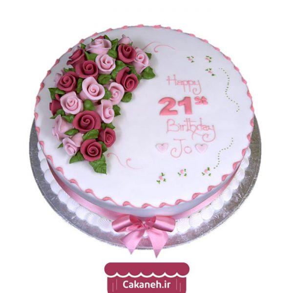کیک تولد گل - کیک تولد دخترانه - کیک تولد زنانه - سفارش کیک تولد - کیک تولد در اصفهان