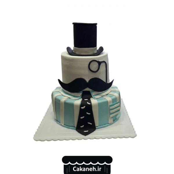 کیک تولد مردانه - کیک تولد پسرانه - کیک تولد پاپیون - سفارش کیک تولد - کیک تولد در اصفهان
