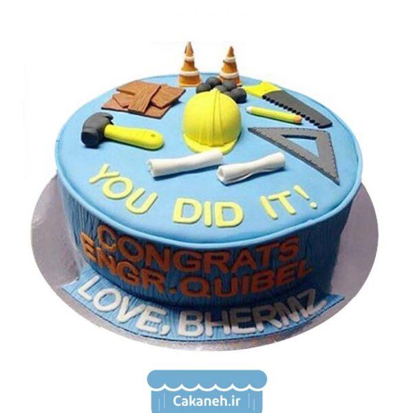 کیک روز مهندس - کیک مشاغل - کیک تولد - سفارش کیک تولد - کیک تولد در اصفهان