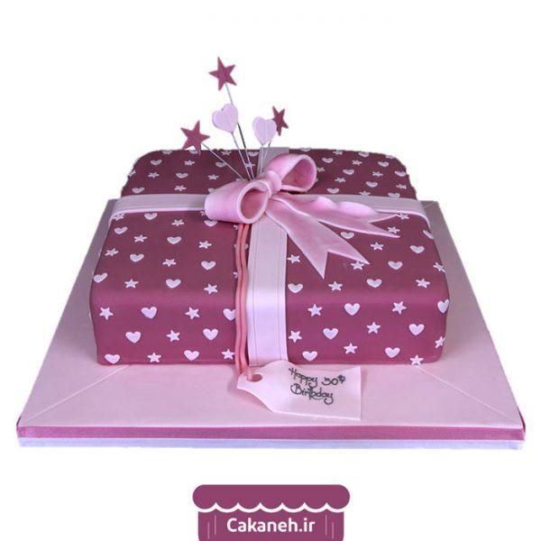 کیک جعبه کادو - کیک تولد هدیه - کیک تولد - سفارش کیک تولد - کیک تولد در اصفهان