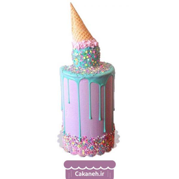 کیک تولد دخترانه - کیک تولد چکهای - سفارش کیک تولد - کیک تولد در اصفهان