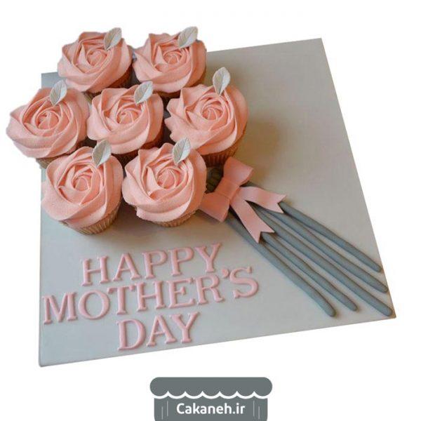 کیک گل روز مادر - کیک روز مادر - سفارش کیک تولد - کیک تولد در اصفهان