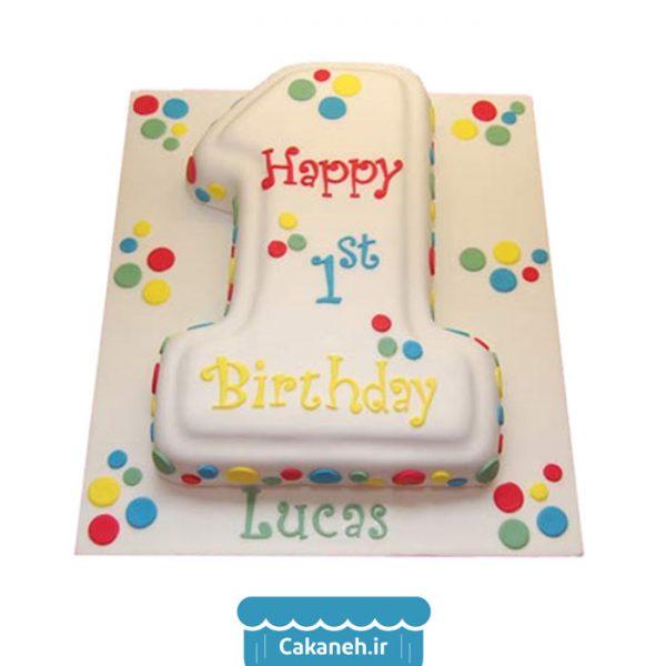 کیک عدد - کیک تولد - کیک کودک - سفارش کیک تولد - کیک تولد در اصفهان