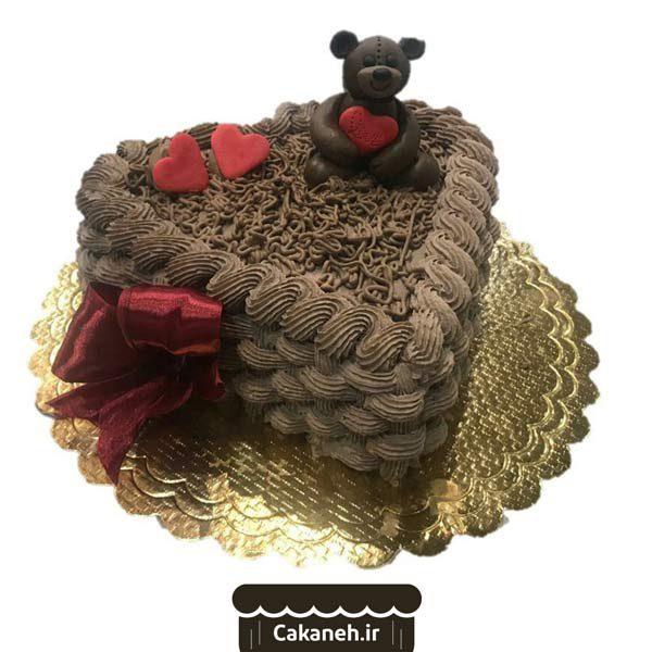 کیک قلب - کیک ساده ویترینی - سفارش کیک تولد - کیک تولد در اصفهان