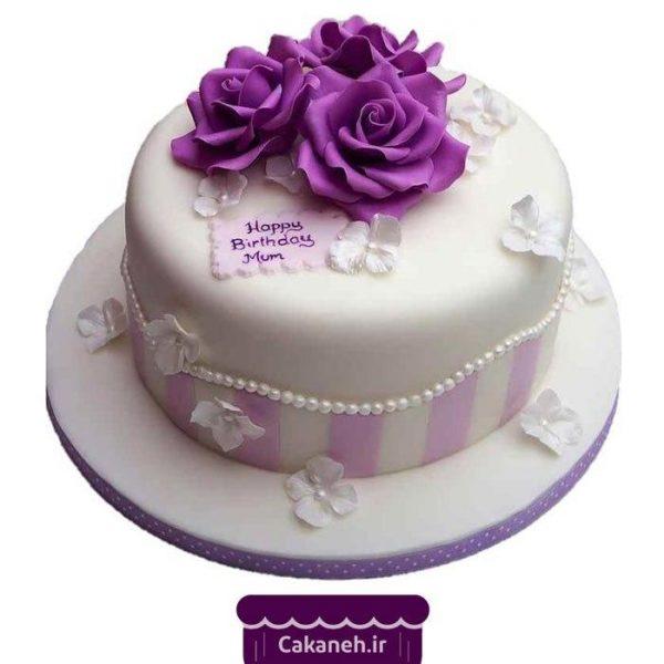 خرید کیک تولد گل - سفارش کیک تولد زنانه - سفارش کیک برای مادر - کیک تولد در تهران و اصفهان