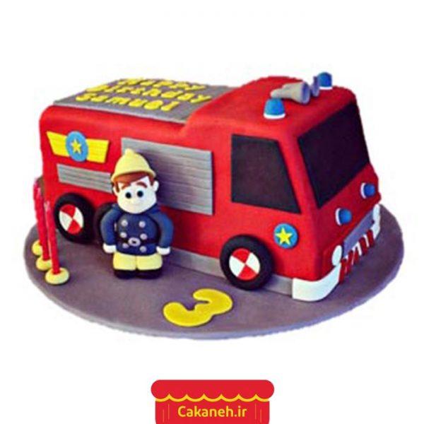 کیک مشاغل - کیک آتشنشان - کیک تولد - سفارش کیک تولد - کیک تولد در اصفهان