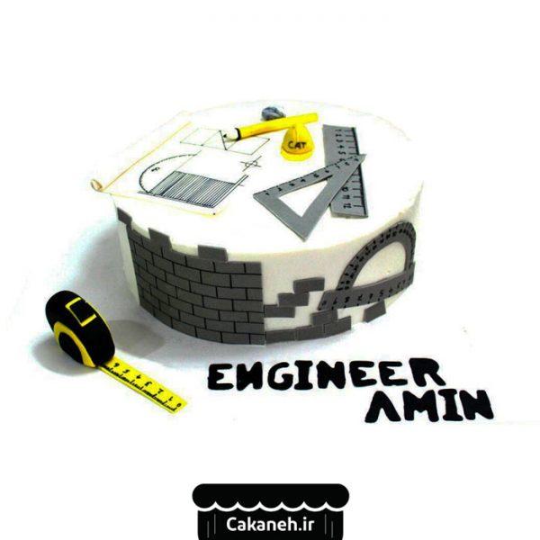 کیک روز مهندس - کیک مناسبتی - کیک مشاغل - سفارش کیک تولد - کیک تولد در اصفهان