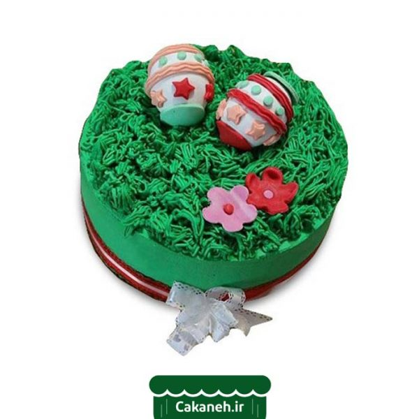 کیک سبزه نوروز - کیک نوروز - سفارش کیک تولد - کیک تولد در اصفهان
