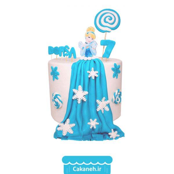 کیک تولد سیندرلا - کیک خانگی - کیک کارتونی - کیک تولد دخترانه - سفارش کیک تولد - کیک تولد در اصفهان