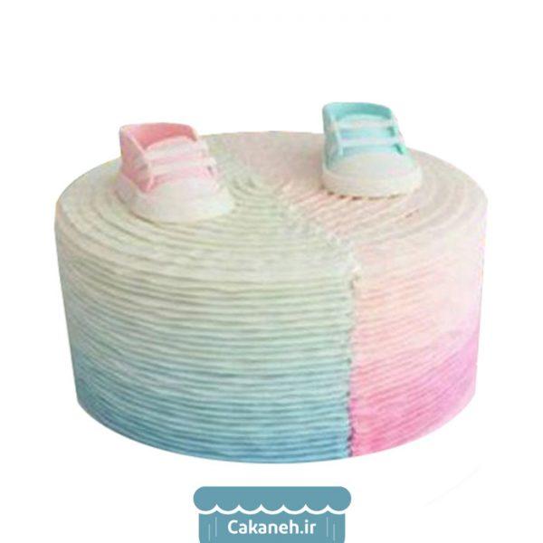 کیک تعیین جنسیت - کیک نوزاد - کیک تولد - کیک خانگی - سفارش کیک تولد - کیک تولد در اصفهان