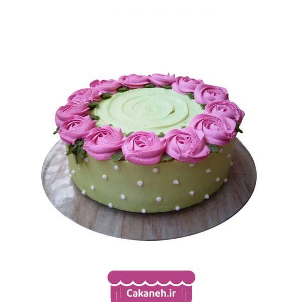 کیک رز صورتی - کیک گل - کیک عاشقانه - کیک تولد - سفارش کیک تولد - کیک تولد در اصفهان