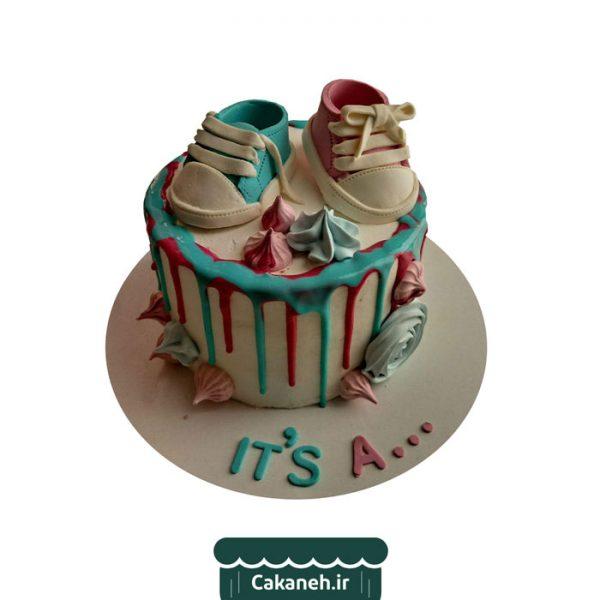 کیک تعیین جنسیت - کیک خانگی - سفارش کیک تولد - کیک تولد در اصفهان
