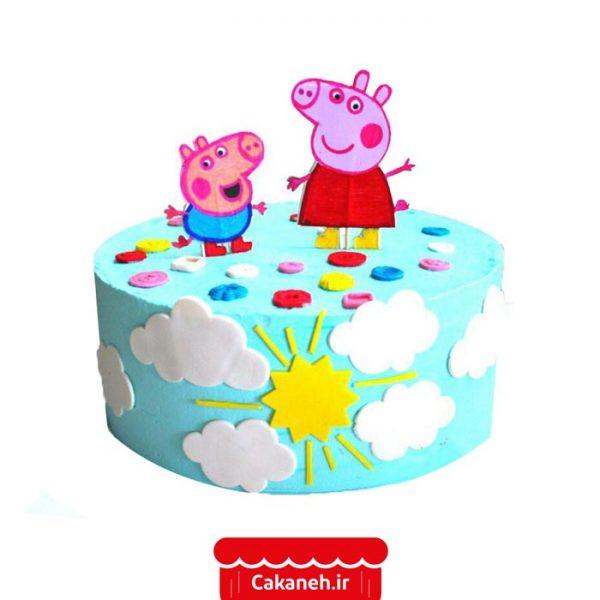 کیک پپا پیگ - کیک تولد کودک - کیک تولد کارتونی - کیک تولد - سفارش کیک تولد - کیک تولد در اصفهان