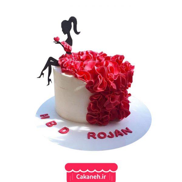 کیک تولد دخترانه - کیک تولد گل - کیک خانگی - کیک گل - سفارش کیک تولد - کیک تولد در اصفهان