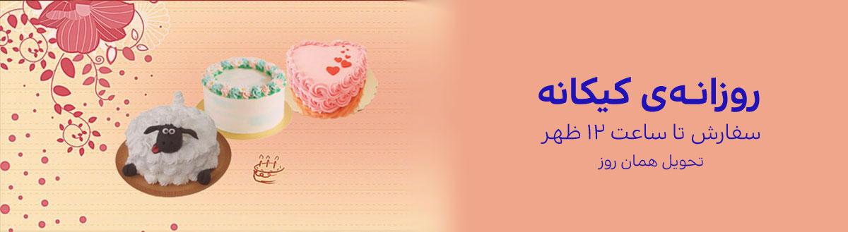 کیک روزانه - سفارش روزانه کیک اصفهان - خرید کیک روزانه - کیک تولد در اصفهان