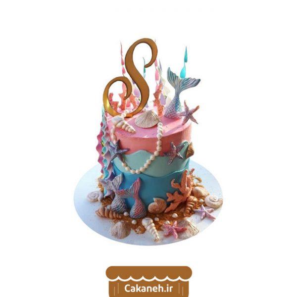کیک تم دریایی - کیک پری دریایی - کیک خانگی - کیک تولد - سفارش کیک تولد - کیک تولد در اصفهان
