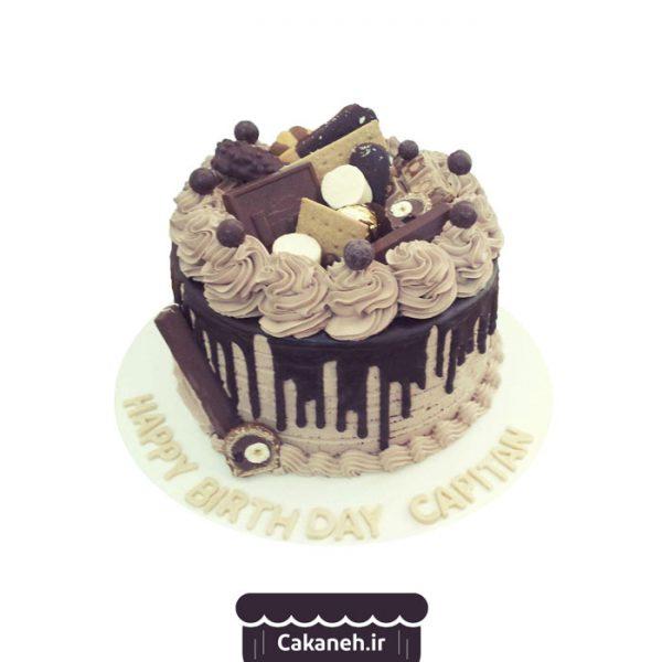 کیک تولد شکلاتی - کیک تولد روزانه - کیک خانگی - سفارش کیک تولد - کیک تولد در اصفهان