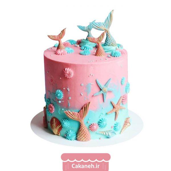 کیک پری دریایی - کیک خانگی - کیک روزانه - کیک تولد - سفارش کیک تولد - کیک تولد در اصفهان