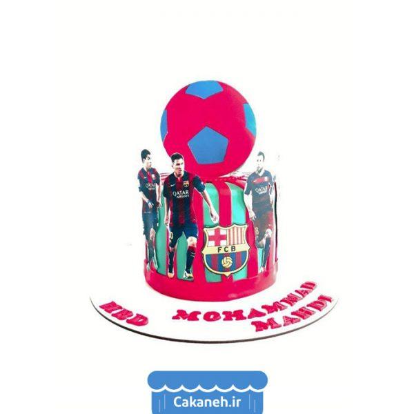 کیک تولد ورزشی - کیک بارسلونا - کیک تولد پسرانه - کیک تولد مردانه - کیک خانگی - سفارش کیک تولد - کیک تولد در تهران