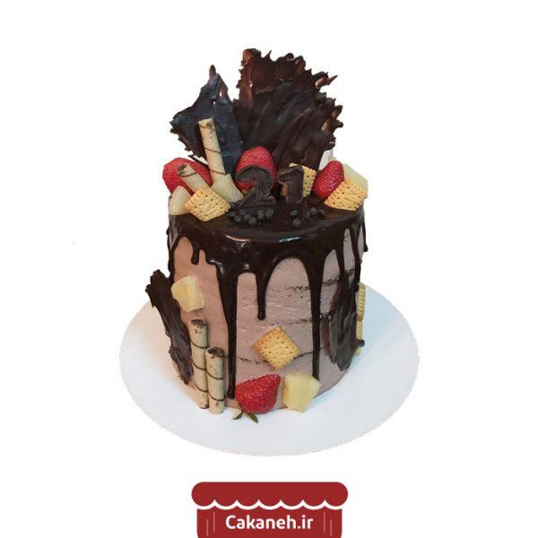 کیک تولد چکهای - کیک خانگی - کیک شکلاتی - سفارش کیک تولد - کیک تولد در تهران
