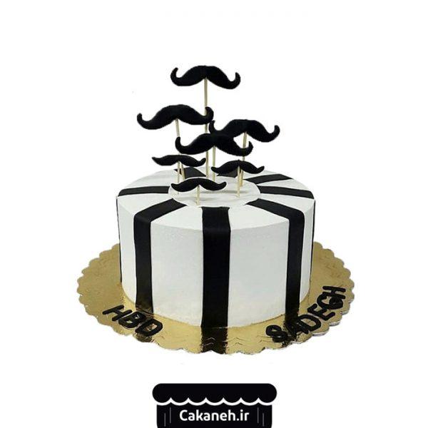کیک تولد سبیل - کیک تولد مردانه - کیک تولد پسرانه - کیک خانگی - سفارش کیک تولد - کیک تولد در تهران