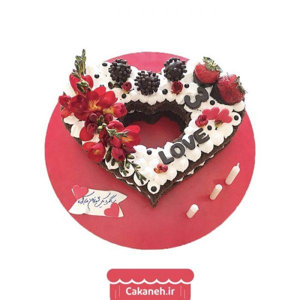 کیک سابله - کیک قلب - کیک عاشقانه - کیک سابله قلب - کیک خانگی - سفارش کیک تولد - کیک تولد در تهران