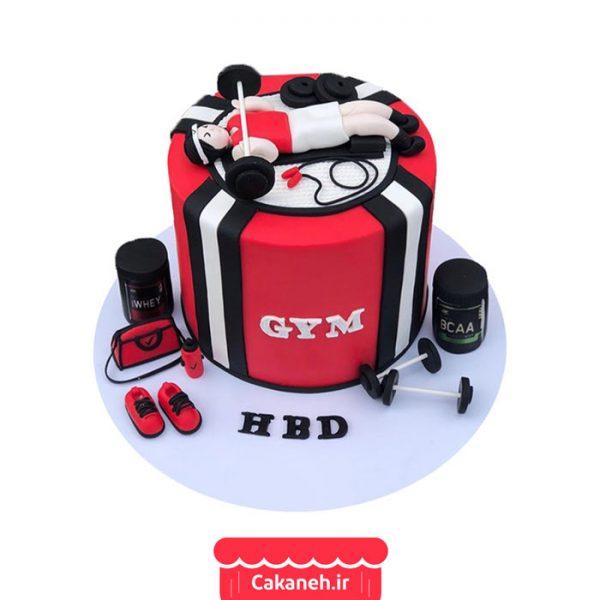 کیک بدنسازی - کیک تولد ورزشکار - کیک خانگی - سفارش کیک تولد - کیک تولد در تهران