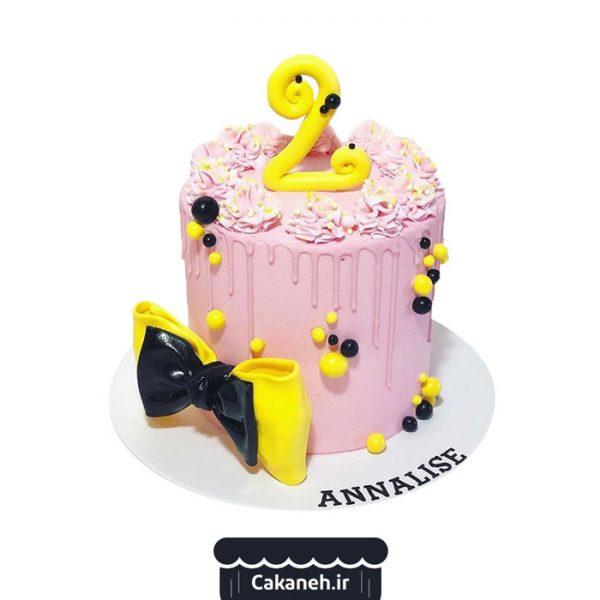 کیک تولد دخترانه - کیک تولد کودک - کیک خانگی - سفارش کیک تولد - کیک تولد در تهران