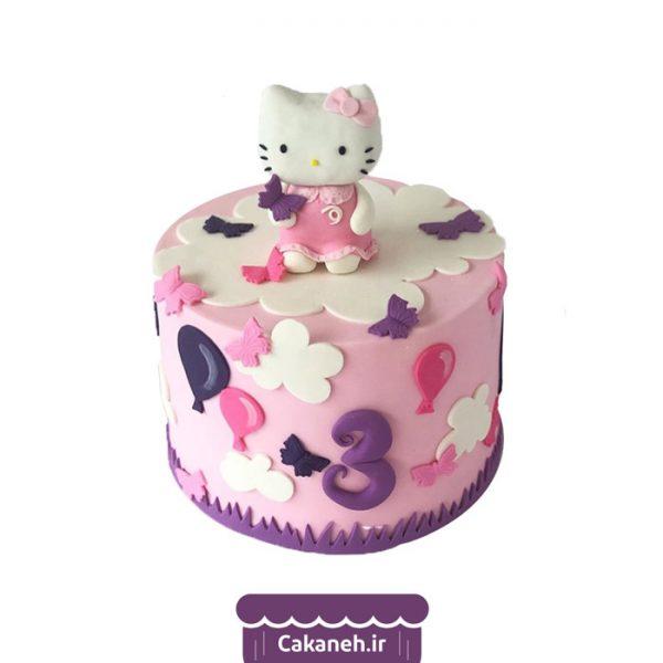 کیک تولد کیتی - کیک تولد دخترانه - کیک تولد کودک - کیک خانگی - سفارش کیک تولد - کیک تولد در تهران