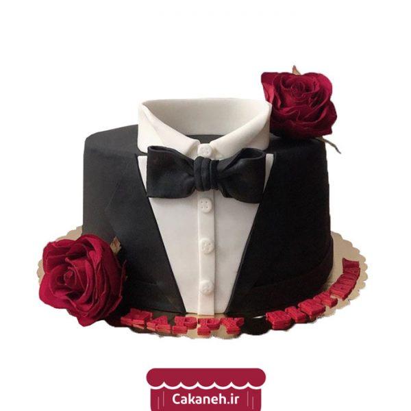 کیک تولد لباس مردانه - کیک تولد پاپیون - کیک تولد مردانه - کیک خانگی - سفارش کیک تولد - کیک تولد در تهران