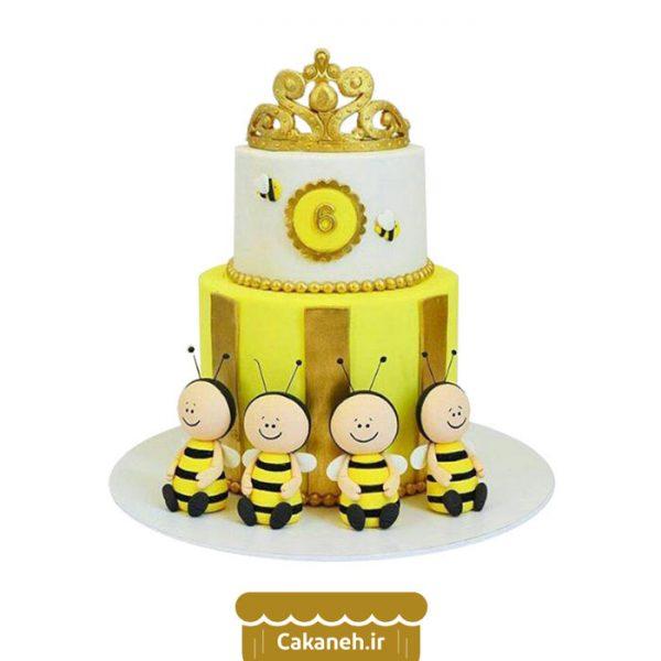 کیک زنبور عسل - کیک تولد کودک - کیک خانگی - سفارش کیک تولد - کیک تولد در تهران