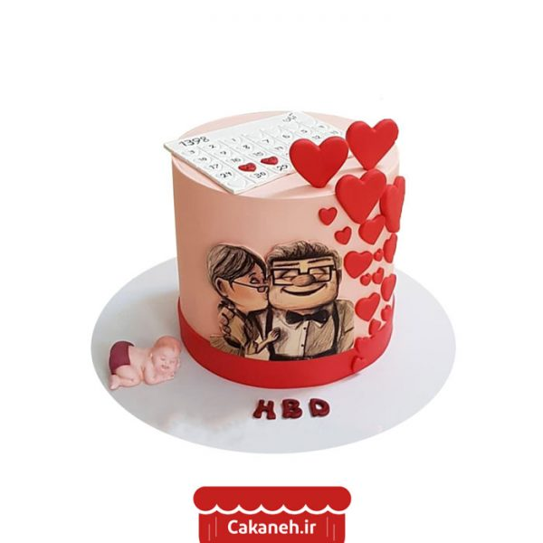 کیک عشق - کیک ولنتاین - کیک رمانتیک - کیک تولد - سفارش کیک تولد - کیک خانگی - کیک تولد در اصفهان