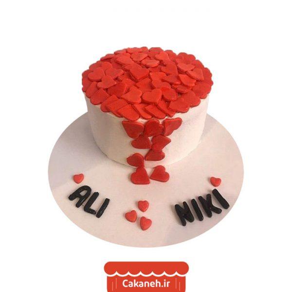کیک قلب - کیک ولنتاین - کیک رمانتیک - کیک تولد - سفارش کیک تولد - کیک خانگی - کیک تولد در تهران